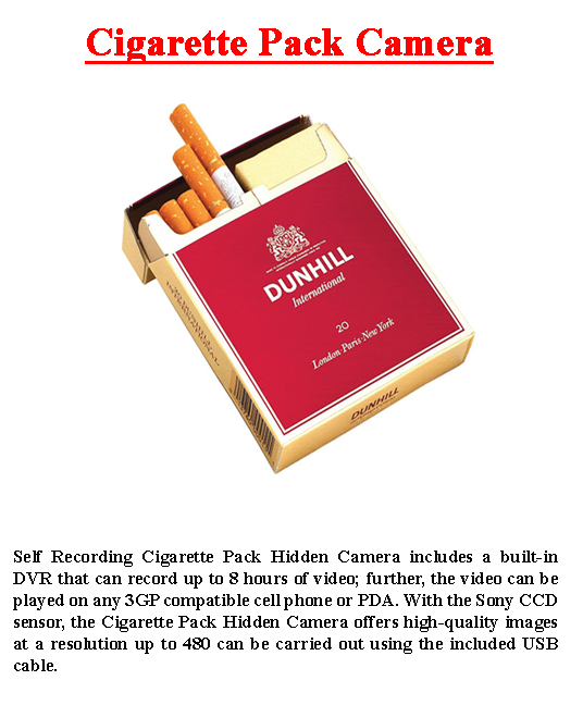Cigarette Pack Camera